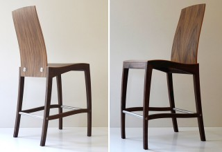 RANK barchair walnut