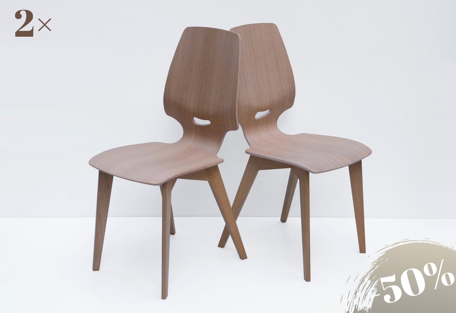 2× FINN chair oak white oiled
