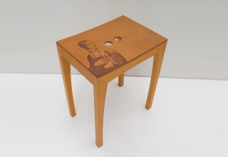 OTTO2 Seat - Beech with laser engraved leather