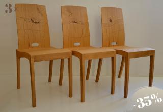 RANK Lasergravierte Stuhl Eiche